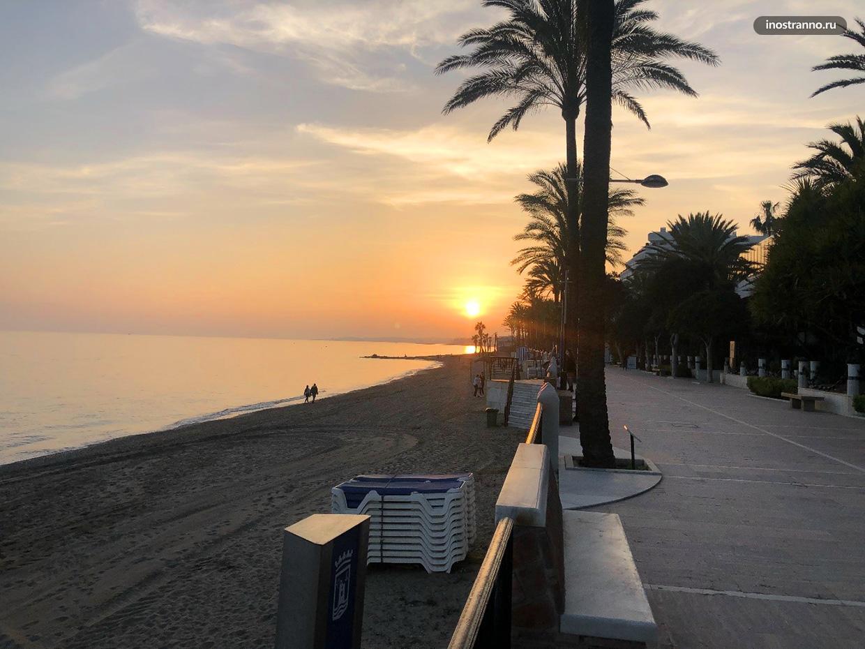 Пляж в Испании во время пандемии