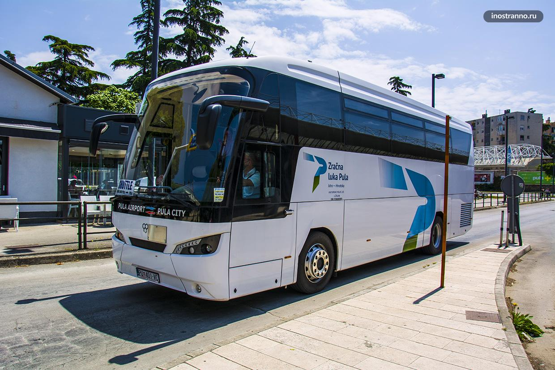 Аэропорт Пула как добраться до центра на автобусе шаттле