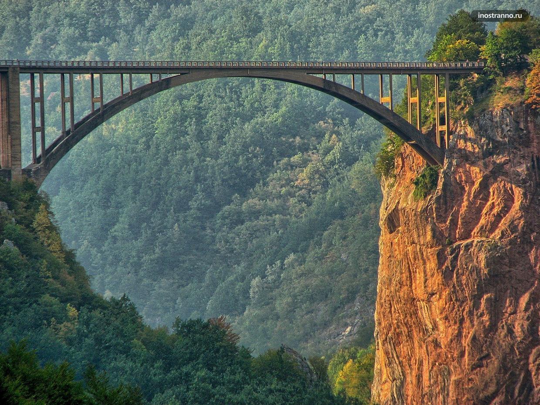 Мост в каньоне реки Тары