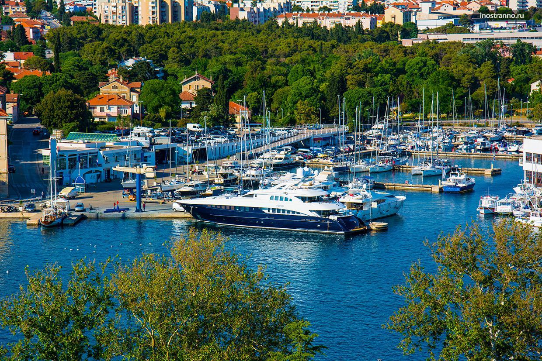 Марина для яхт в хорватском городе Задаре