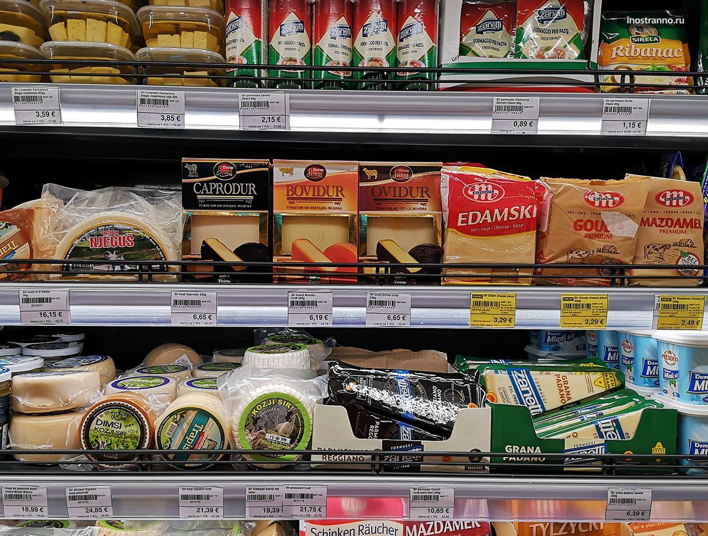 Цены на продукты в Черногории
