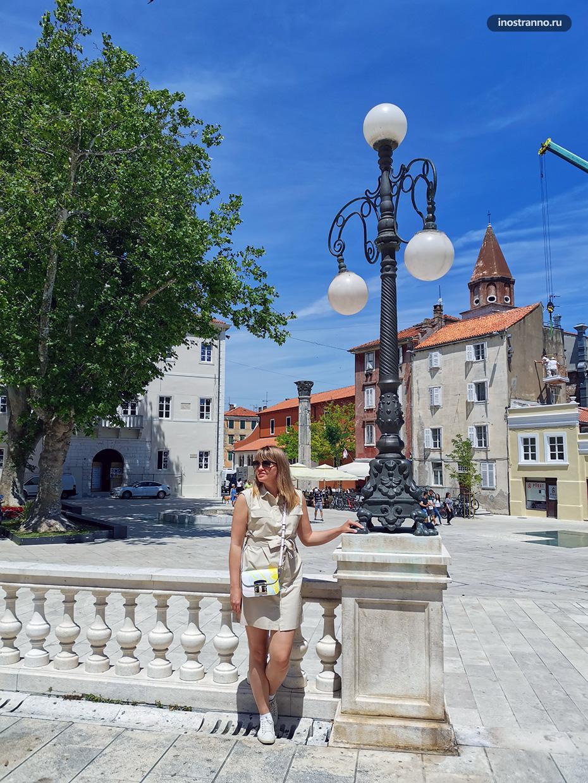 Девушка в Хорватии летом