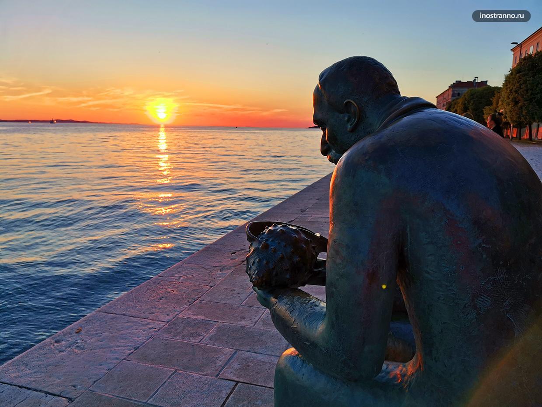 Закат над Средиземным морем лучшее фото