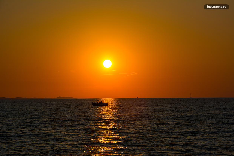 Красивое фото заката
