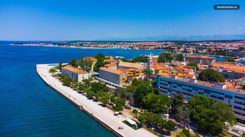 Фото города в Хорватии с дрона