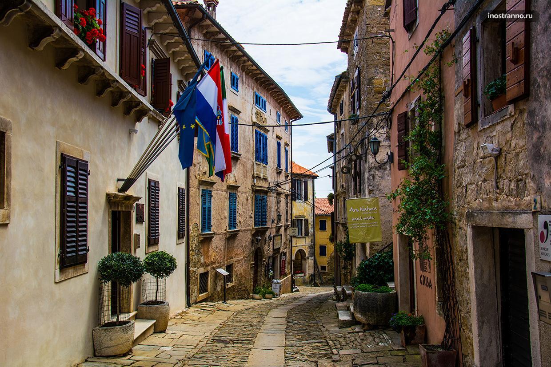 Средневековый город Грожнян в Хорватии