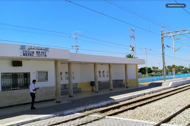 Жд станция в аэропорту Монастира